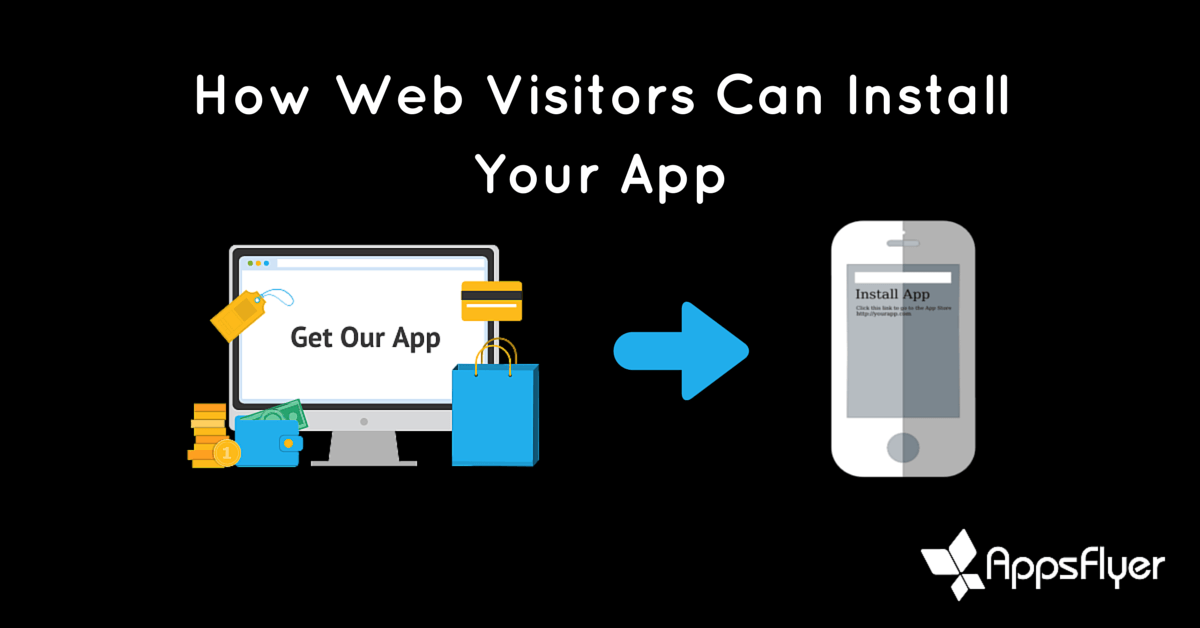 Driving web visitors to download your app