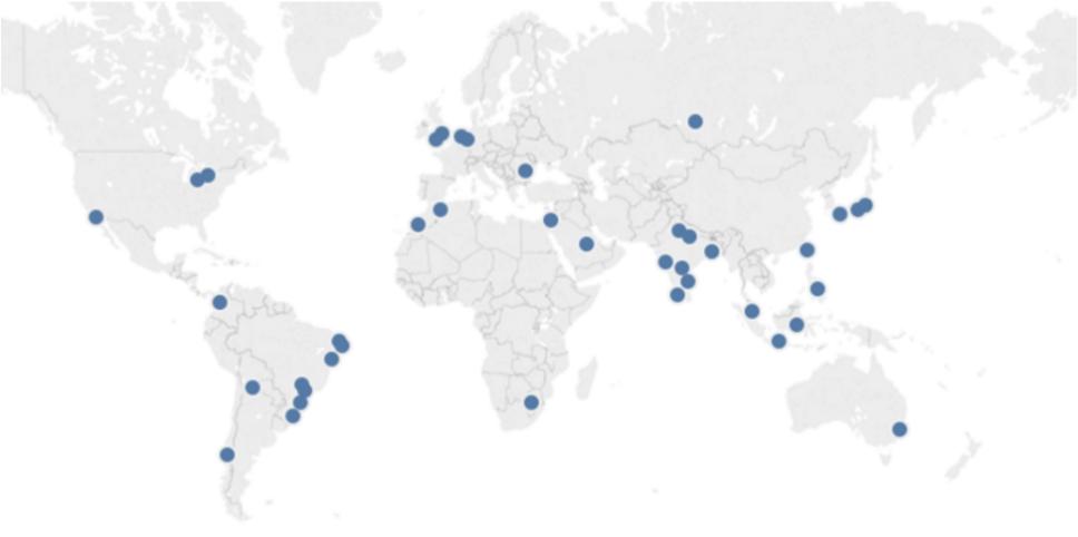 Bot activity geo spread