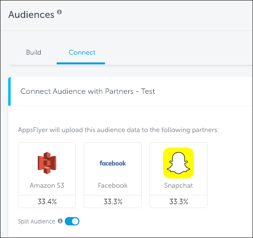 One-click Connection - AppsFlyer's Audiences