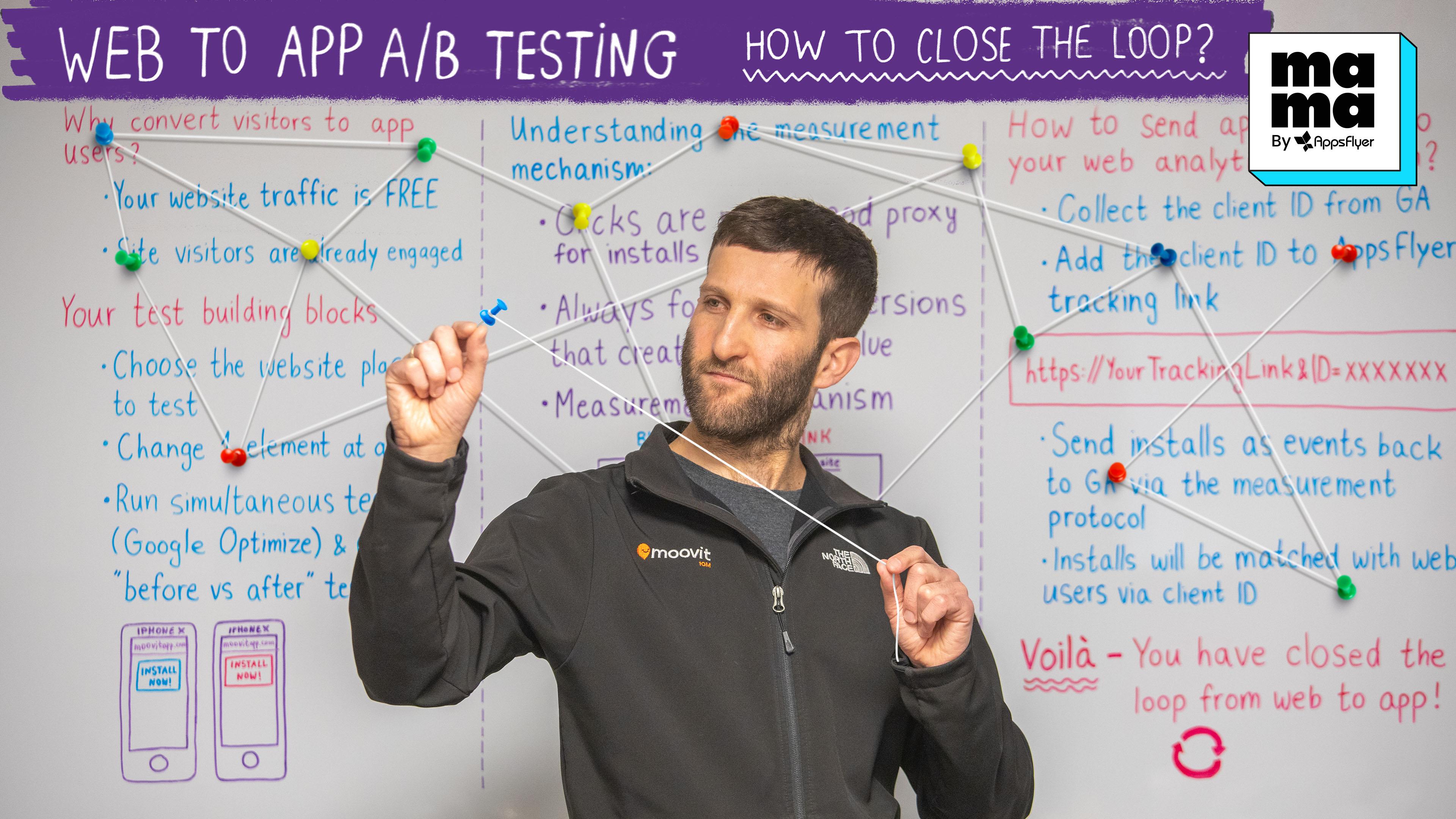 web to app A/B testing