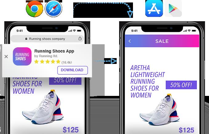 Transición de web a aplicación - AppsFlyer