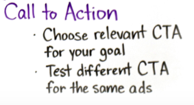 what is a good facebook ad call to action