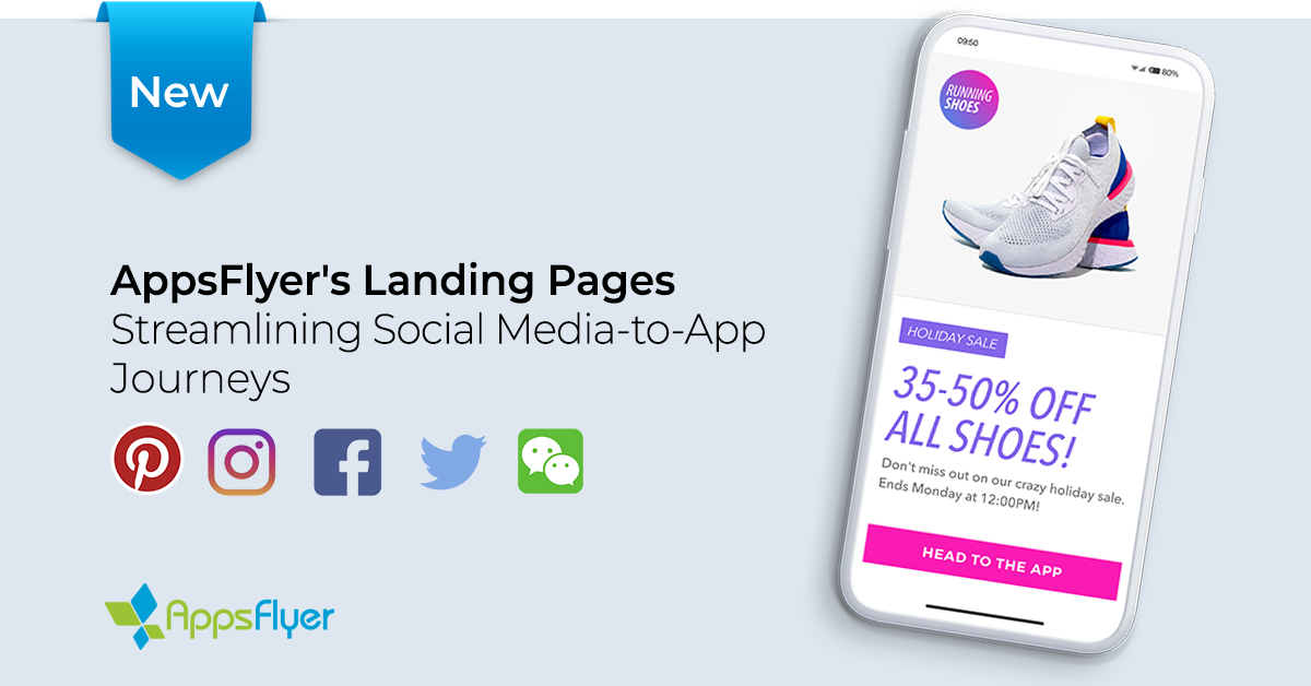 AppsFlyer OneLink Landing Pages Social Media-to-App