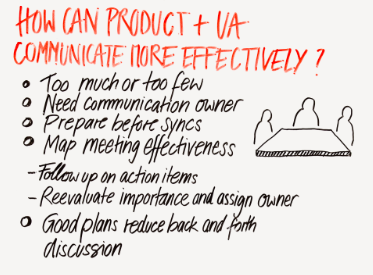 how can product and ua communicate more effectively?