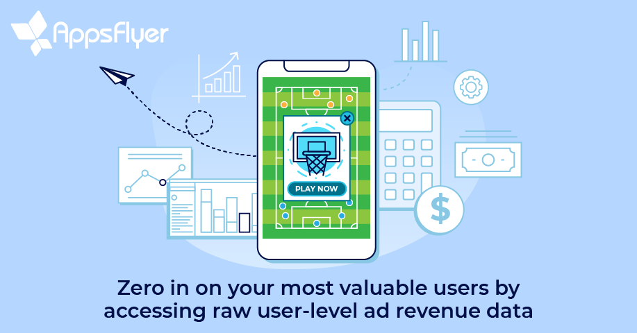 AppsFlyer raw user-level ad revenue export