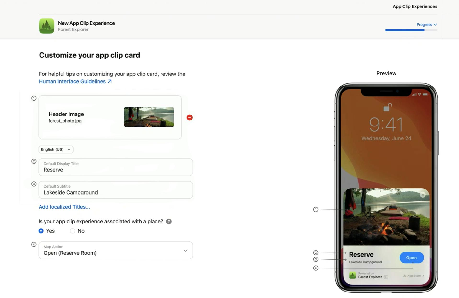 App Clip Experience のカスタマイズ