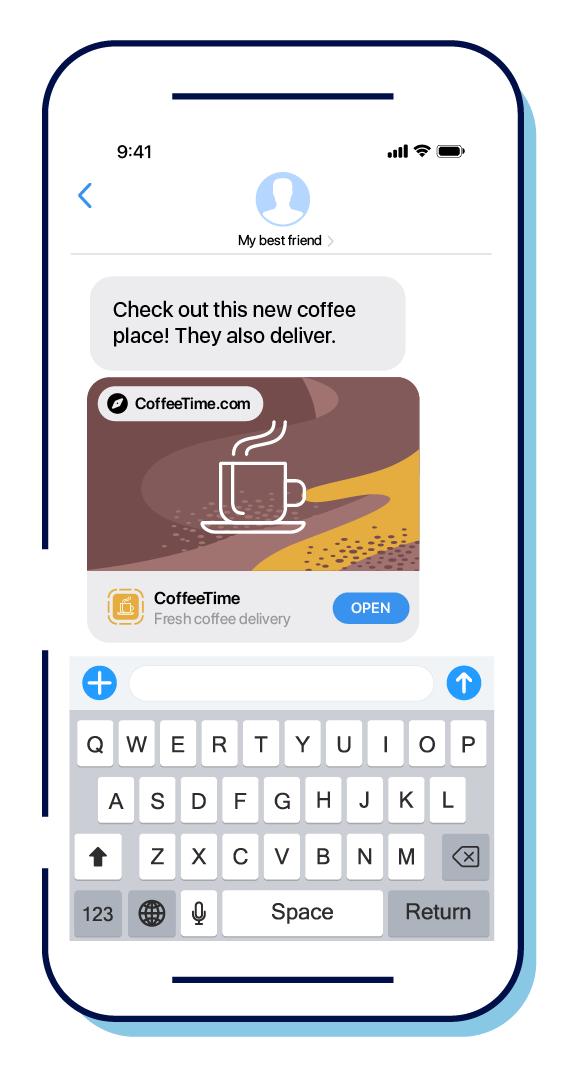 App Clip SMS Invocation URL