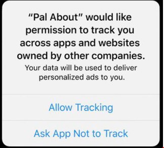IDFA app tracking transparency consent apple iOS14