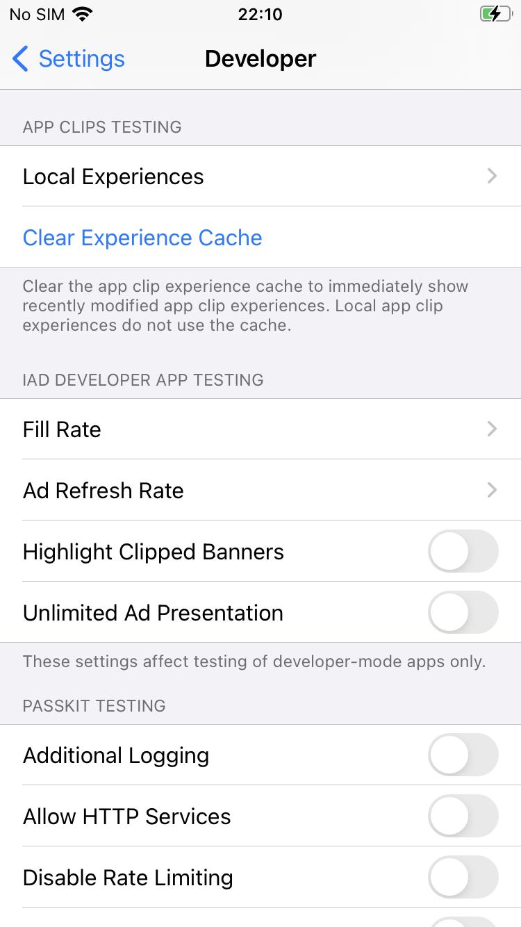 app clip developer local experience