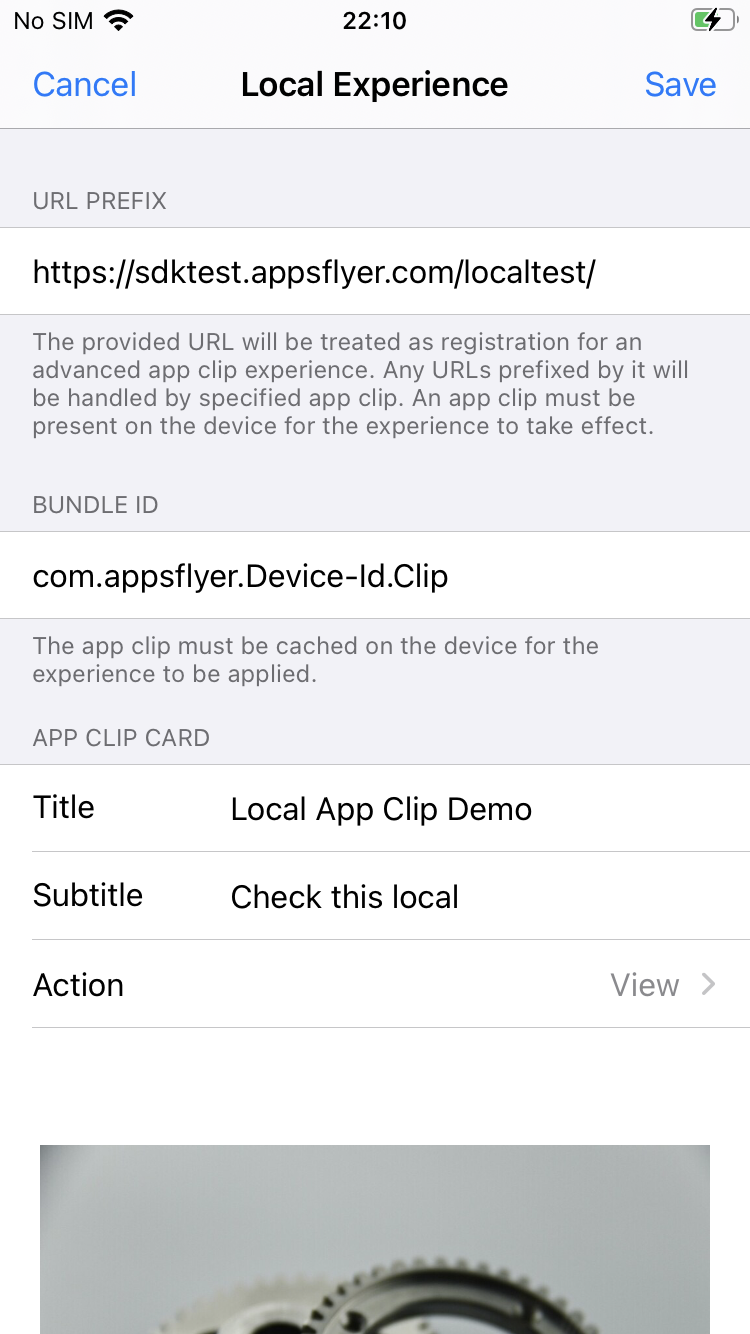 app clips local experience test