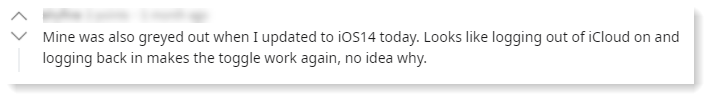 ungreying restricted status ios 14