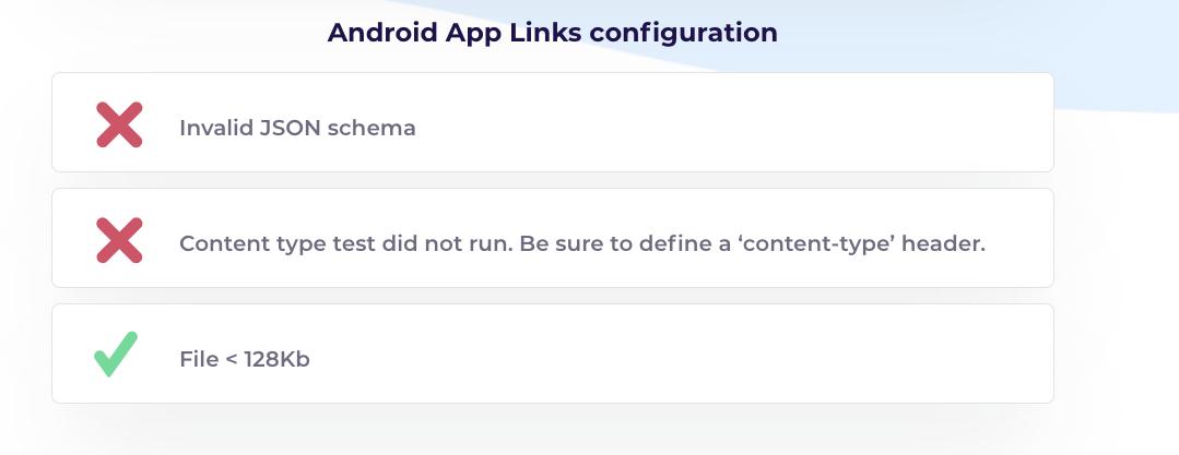 App links validator tool :Adroid app links configuration