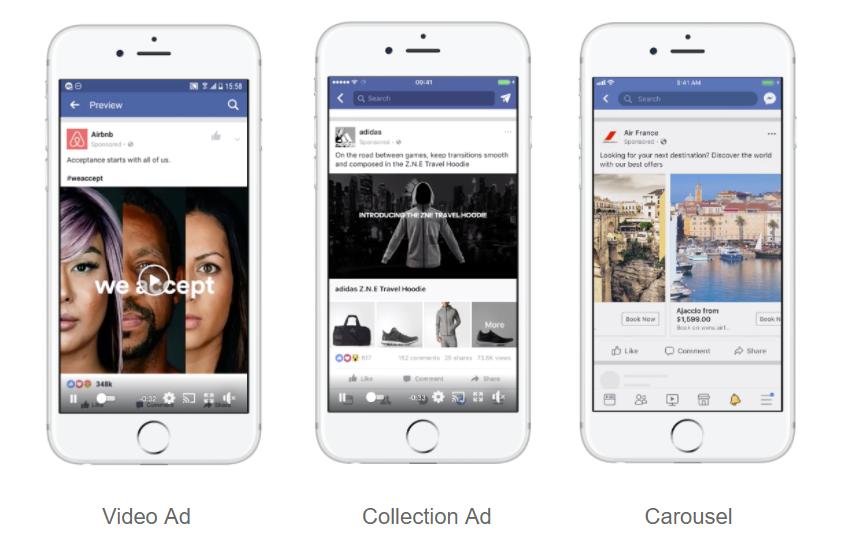 Facebook app ad creatives