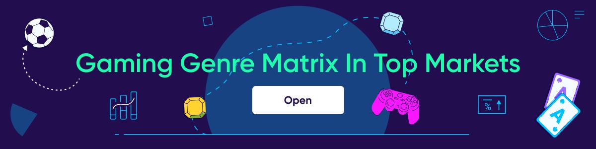 Gaming genre matrix in top markets