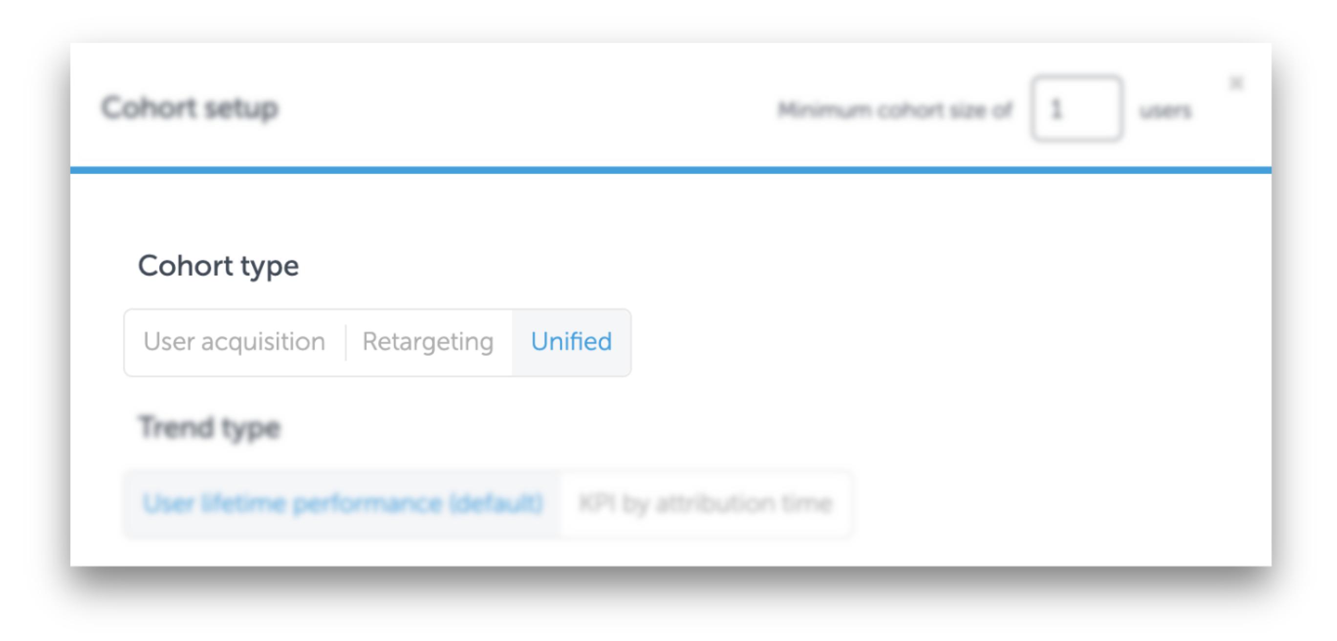 AppsFlyer コホートの新しい表示オプション