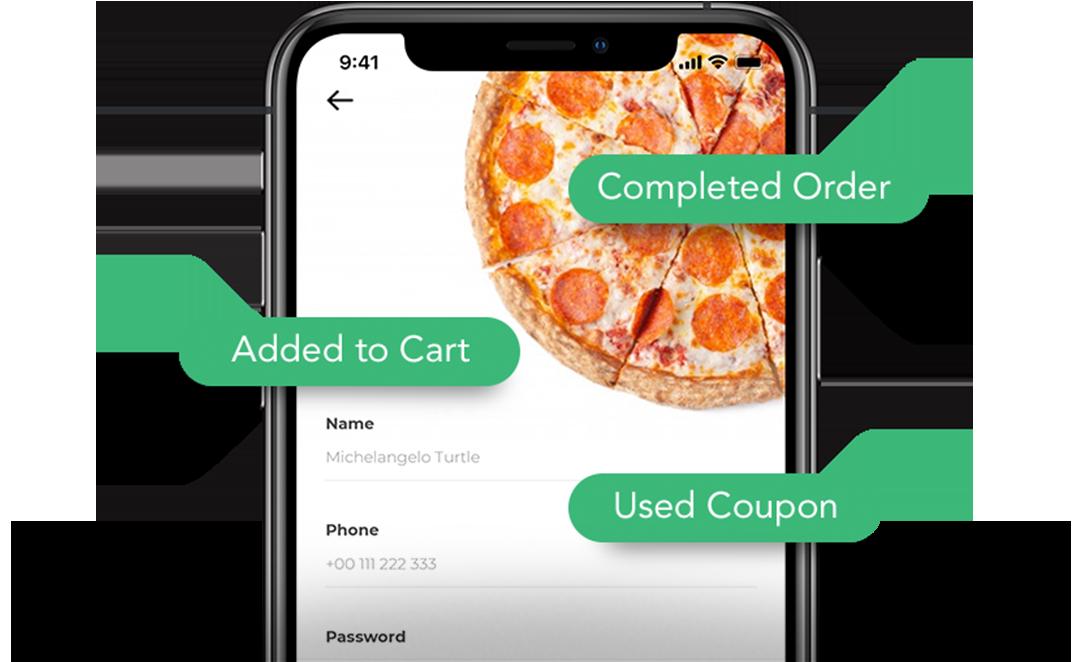 Eventos in-app para aplicaciones de comida e bebida - AppsFlyer