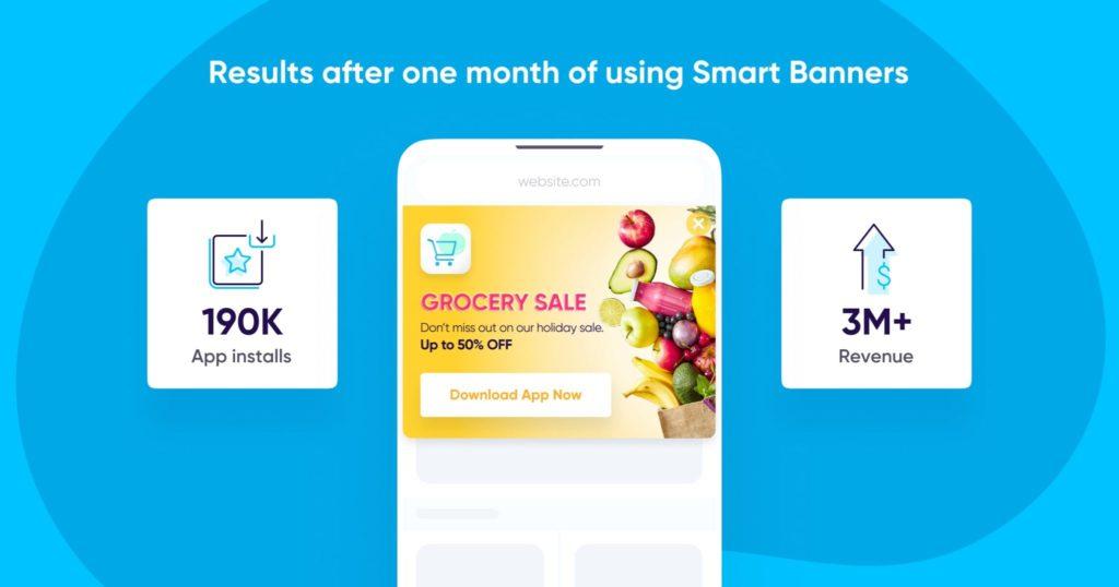 Resultados utilizando Smart Banners