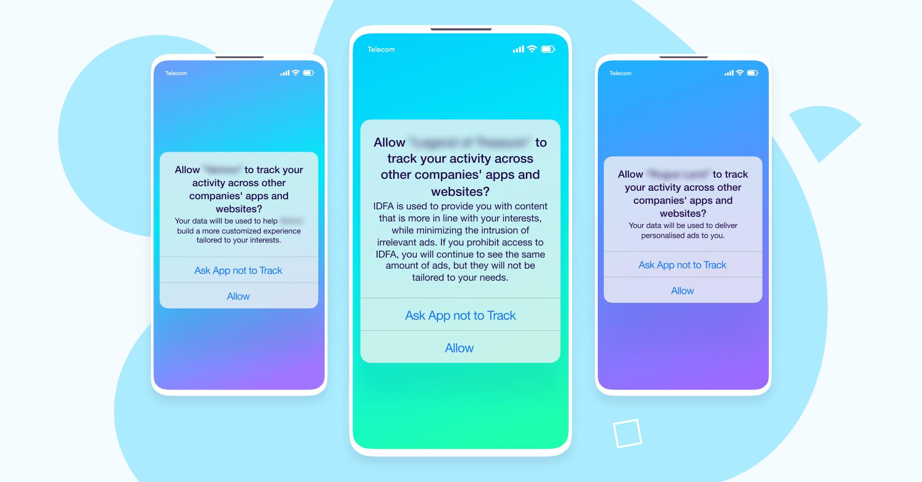 Mensajes de iOS 14 con ATT