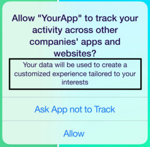 mensaje de iOS 14